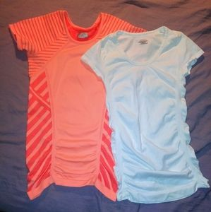 2 Athleta Short Sleeve Shirts Yoga Running XS